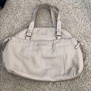 Furla grey / beige bag